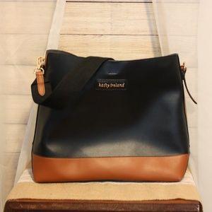 Katy Ireland black and tan purse